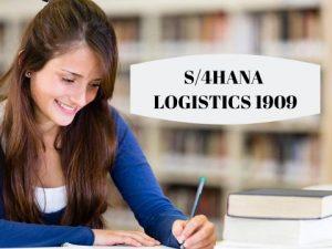 s4hana logistics 1909
